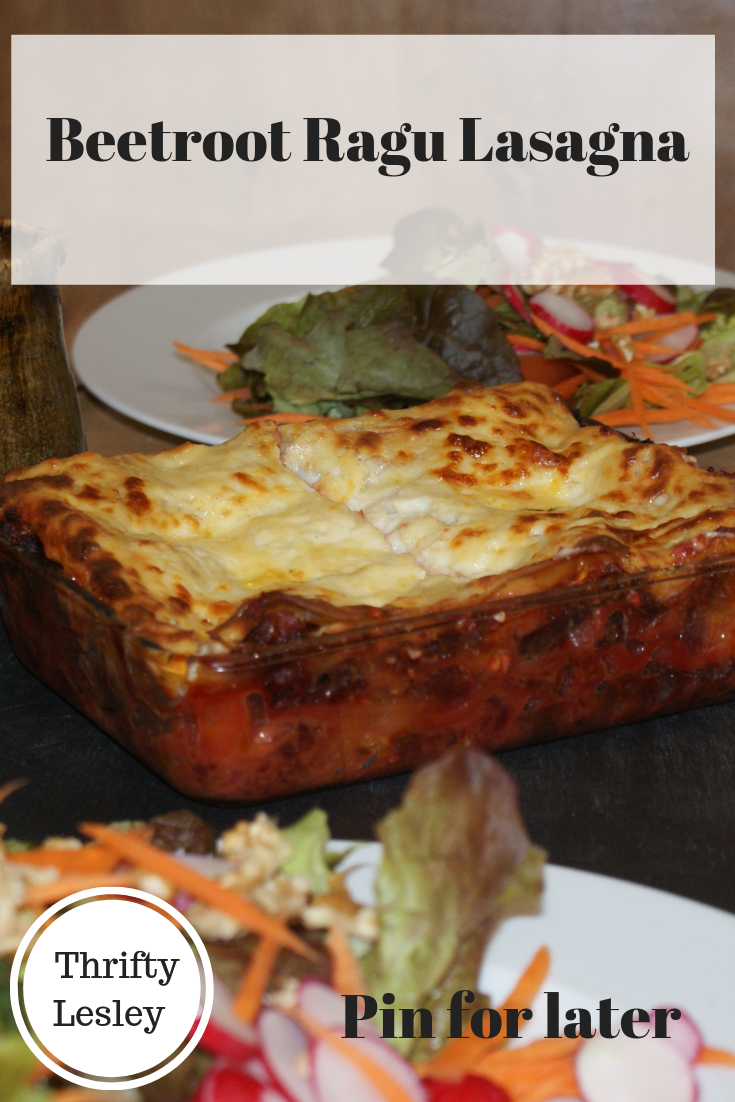 Beetroot Ragu Lasagna - vegetable lasagna