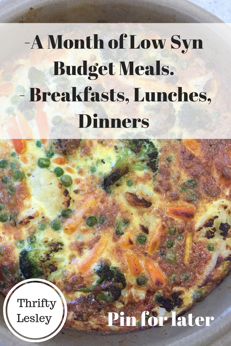 A Month of Low Syn Budget Meals