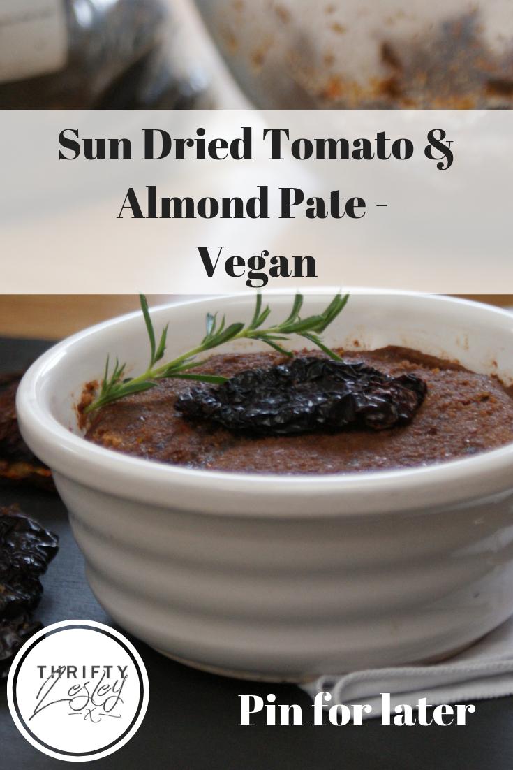 Sun Dried Tomato & Almond Pate, a budget recipe