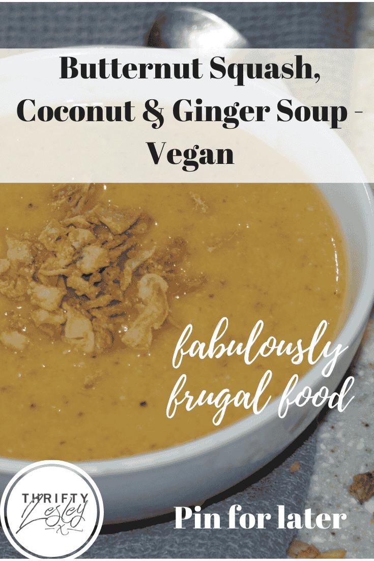 Butternut squash, Coconut & Ginger Soup
