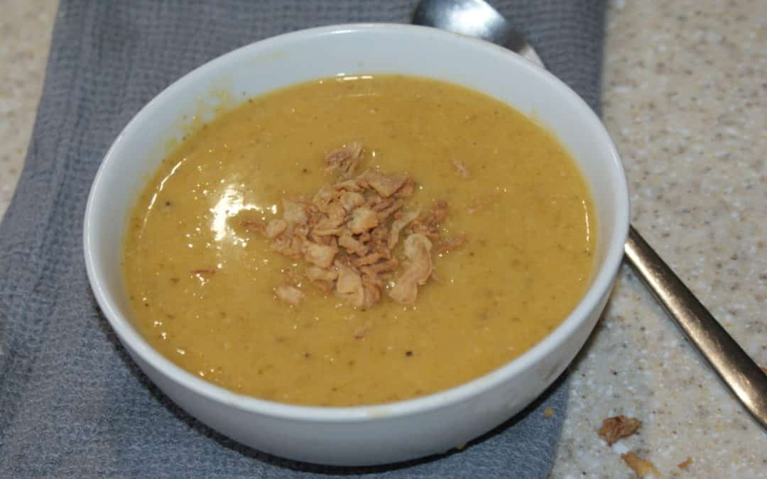 butternut squash, coconut and ginger soup